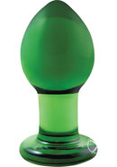 Crystal Anal Plug Premium Glass Medium - Green