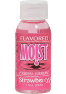 Moist Flavored Personal Water Based Lubricant Strawberry 1...
